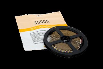 лента светодиодная 12вт 12в 2835 теплый свет 3000к упаковка