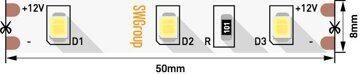 Светодиодная лента 6,3 вт 2835 12в