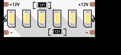 Светодиодная лента 24вт 12в 3014